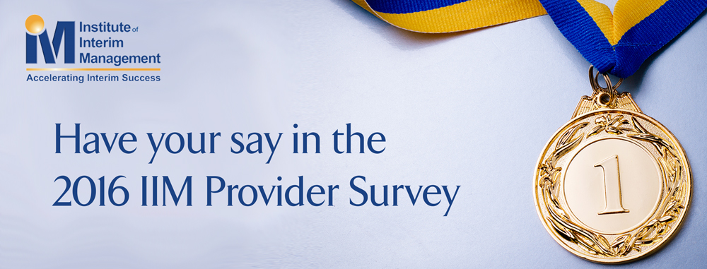 IIM Interim Provider Survey 2016